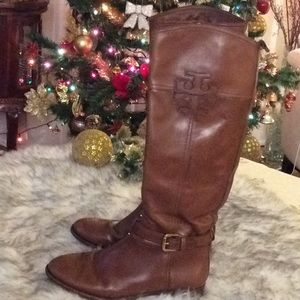 💞TORY BURCH 💞brown leather boots